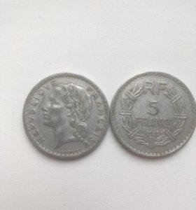 5 франков 1945 год
