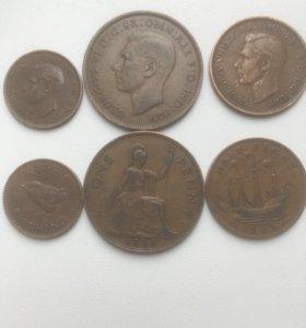 Монеты Англии 39-45 годы