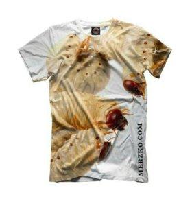 3D футболка от бренда Merzko' - личинки