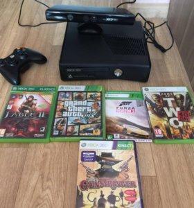 Xbox 360+джойстик+Kinect+20игр