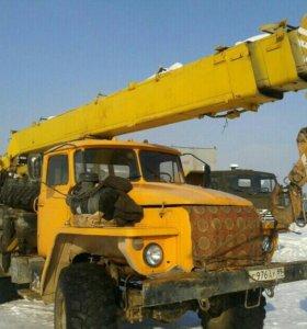 Автокран Урал телескоп