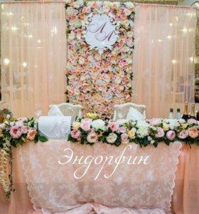 Задник,цветочная стена,оформление свадьбы