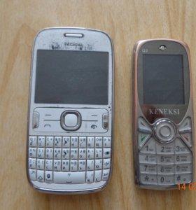 продаю два не рабочих телефона