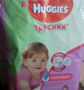 Трусики Huggies для девочек р.4