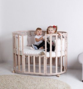 Кроватка трансформер диванчик детская