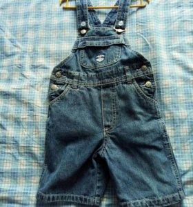 шорты джинсовые,очень мало б/у на 2-4г