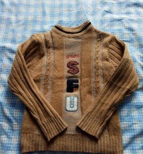свитер-шерсть,теплый,на 4-6л