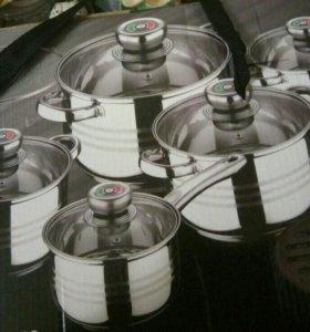 Набор посуды 4 кастрюли и ковш Австрия 5 слойное д