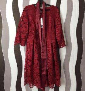 Новое кружевное платье р-р48