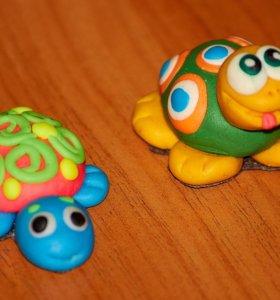 Сувениры черепашки из полимерной глины