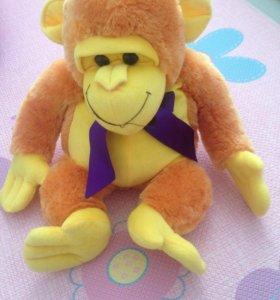Мягкая игрушка обезьяна большая