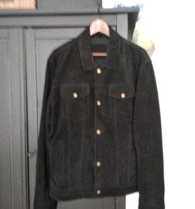 Чёрная куртка/замша.