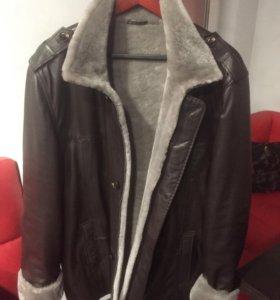 Куртка кожа+мех 54-56