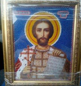 Икона бисером Св. Александр