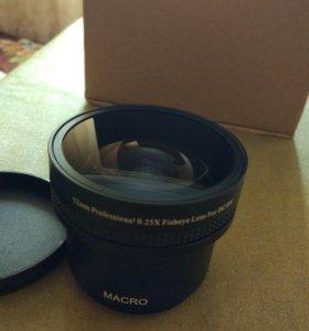 fisheye macro насадка на объективы 52mm