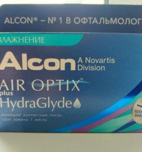Линзы Alcon Air Optix plus HydraGlyde -4/-3,75