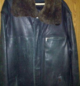 Куртка кожаная удлиненная