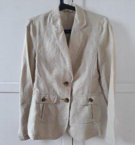 Льняной пиджак BENETTON