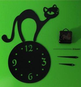 Часы Новые акриловые кошка