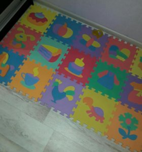 Детский коврик пазл развивающий