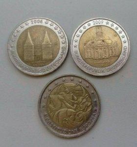 2 евро юбилейные