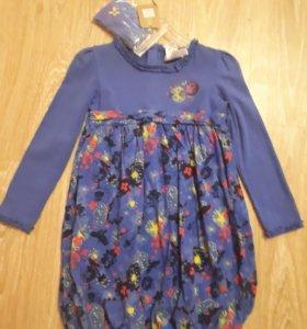 Платье с повязкой на голову на 6 лет