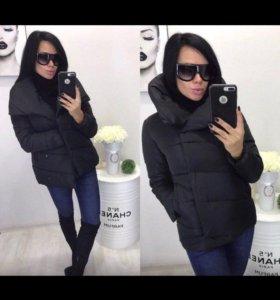Новая  черная куртка зефирка