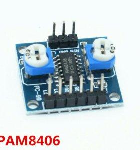 Усилитель цифровой D класса 2x5w 5в стерео pam8406