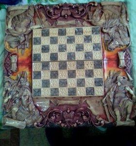 Резные нарды и шахматы