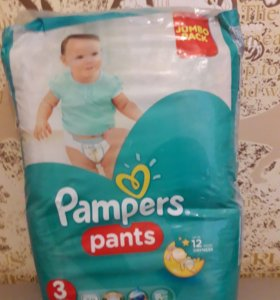Трусики-подгузники Pampers Pants 3 (6-11 кг) 60 шт