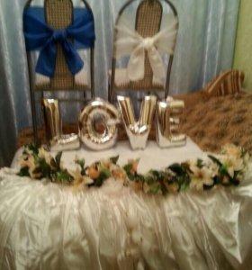 Аксессуары для свадьбы в сине-белой гамме
