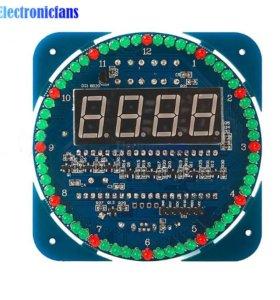 Электронные часы, календарь, термометр