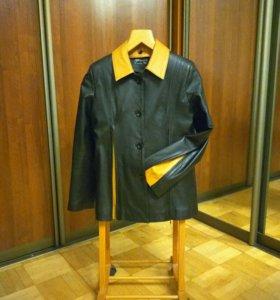 Куртка жакет пиджак кожа женский