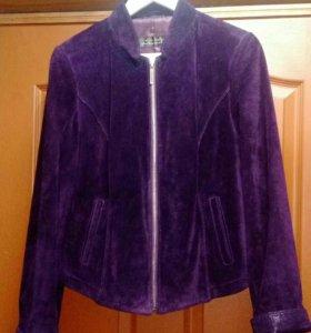 Замшевая куртка vito ponti (Италия),48-50р