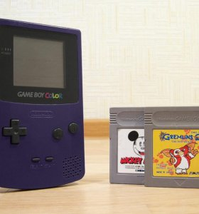 Nintendo Game Boy Color + 2 картриджа