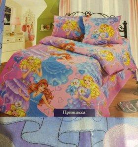 Бязевый 1,5 спальный комплект постельного белья