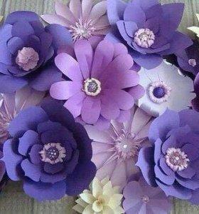 Бумажные цветы на тему день рождения