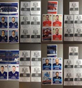 Наклейки Panini КХЛ: сезон 2017-2018, по номерам