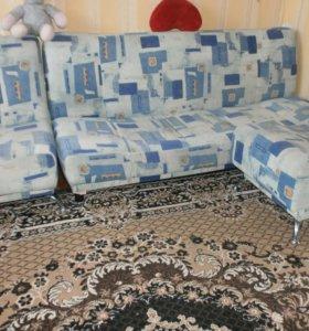 Мебель (диван+кресло+пуф)
