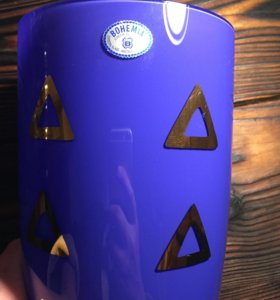 Антикварная ваза Bohemia crystal