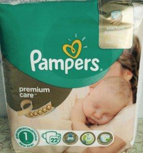 Продаются pampers premium care 1