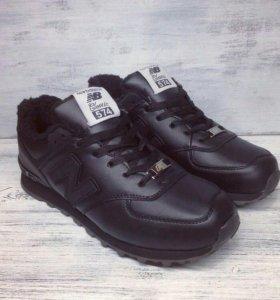 Новые зимние кроссы New Balance черные