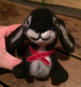 Кролик из натуральной шерсти