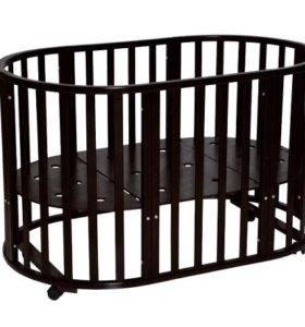 Кроватка Трансформер 6в1 темный шоколад