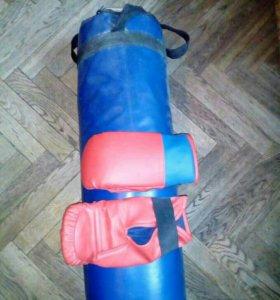 Боксерский мешок 25 кг+перчатки