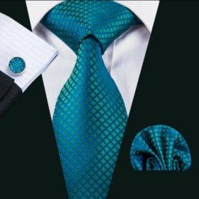 Мужской набор (галстук, платок и запонки) #2