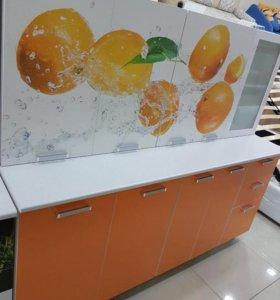 Кухня Апельсин 2,0 фотопечать Апельсин