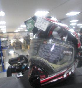 Шлем FXR TORQUE X с эл.визором (черный/красный M)