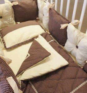 Бортики и одеяльца