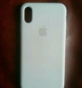 iPhone X :Клип-кейс Apple селикованный белый